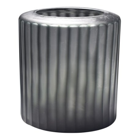 Vaso de vidro textura cinza