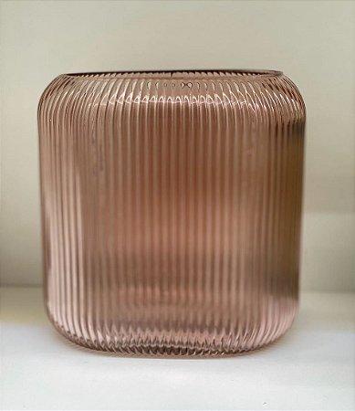 Vaso Decor M vidro rosa
