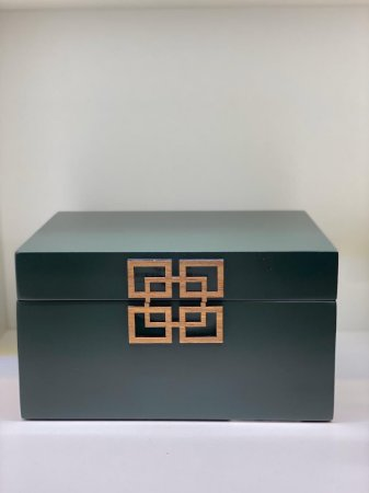 Caixa retangular verde