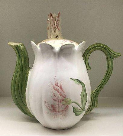 Bule chá tulipa rosa