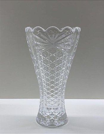 Vasinho vidro transparente lapidado