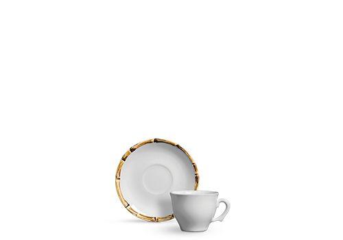 Xícara Café Bambu - conjunto com 6 unidades