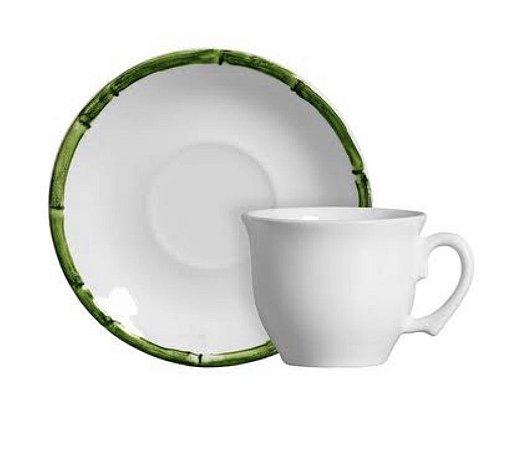 Xícaras de chá bambu verde set c/ 6unidades