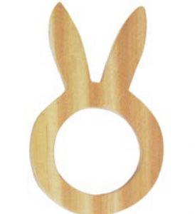 Porta Guardanapo em madeira orelha Coelho  set c/ 6 unidades