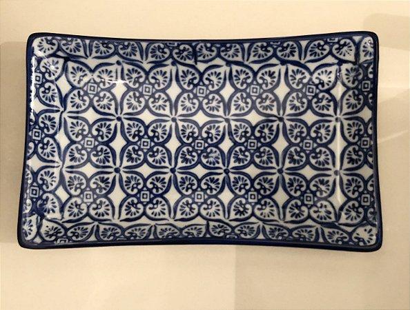 Travessa retangular em cerâmica