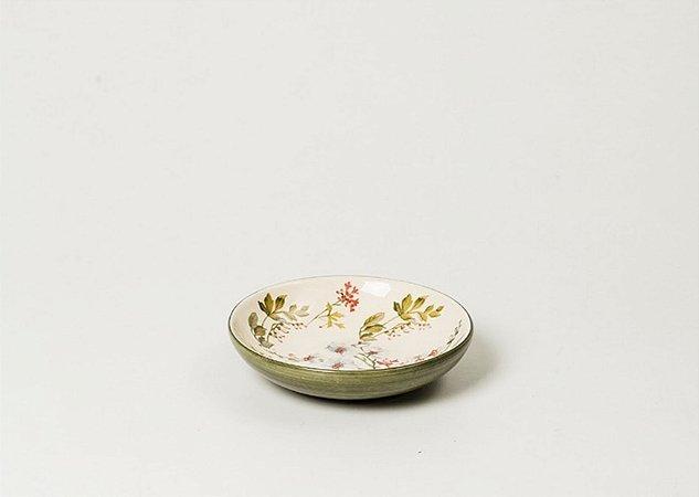 Porta objetos em Cerâmica com Estampa Gardênia