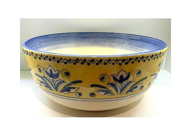 Tigela em Cerâmica na Estampa Fiore