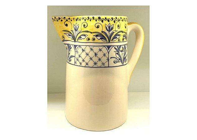 Jarra em Cerâmica na Estampa Fiore