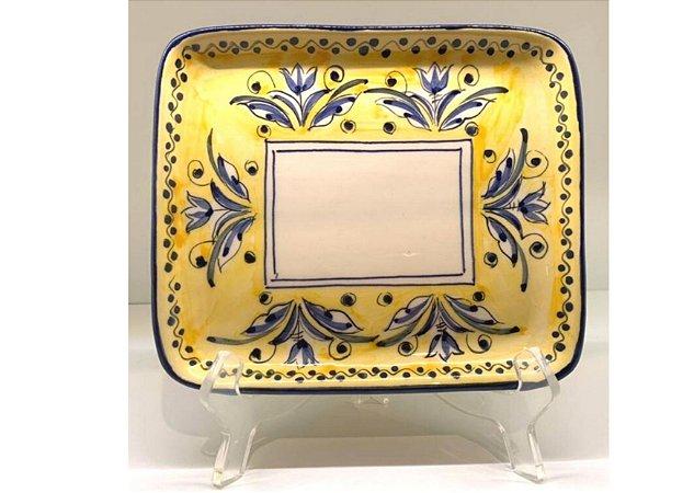 Bandeja em Cerâmica com Estampa Fiore