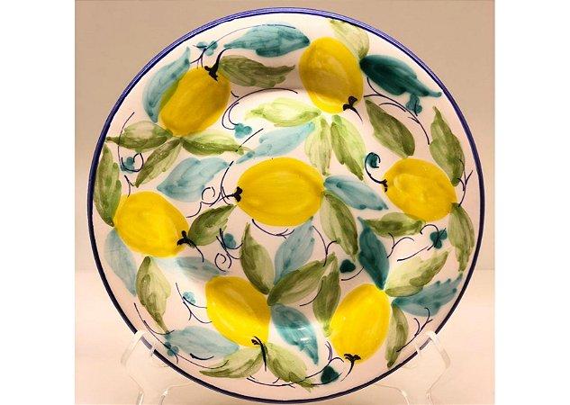 Prato Sobremesa em Cerâmica Limão Siciliano