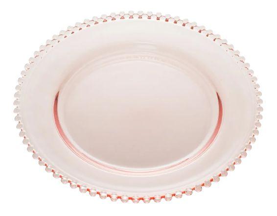 Prato Pearl Rosa Cristal