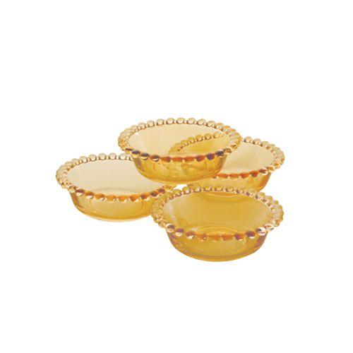 Conjunto Bowl Pearl Ambar Cristal - 4un
