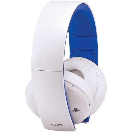 Gold Wireless Stereo Headset 7.1 (Sony) (Branco) - PS3 / PS4 / PS Vita / PC / Mac