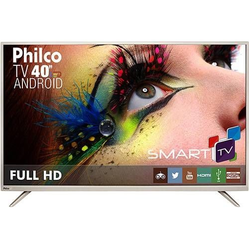 "Smart TV LED 40"" Philco PH40F10DSGWAC Full HD com Conversor Digital 2 HDMI 2 USB Wi-Fi"