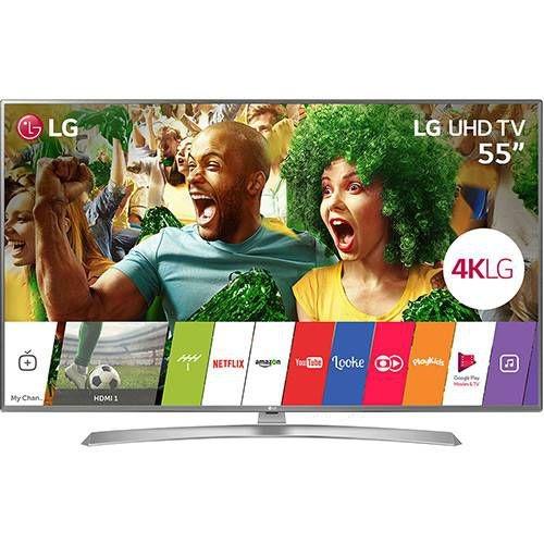 "Smart TV LED 55"" LG Ultra HD 4K 55UJ6545 com Conversor Digital 4HDMI 2 USB Painel Ips Hdr e Magic Mobile Connection"