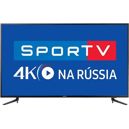 """Smart TV LED 58"""" Samsung 58mu6120 Ultra HD 4K com Conversor Digital Integrado 3 HDMI 2 USB Wi-Fi Smart Tizen, Espelhamento de Tela"""
