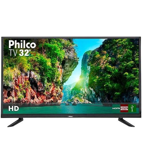 "TV LED 32"" Philco PTV32D12D HD com Conversor Digital 1 USB 2 HDMI 60Hz - Preta"