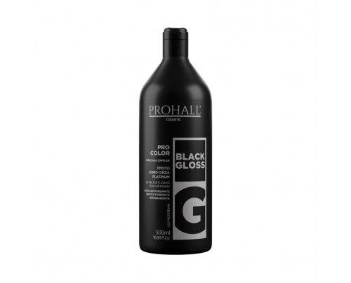 Prohall - Máscara Matizadora Black Gloss Efeito Loiro Cinza Platinado 500ML