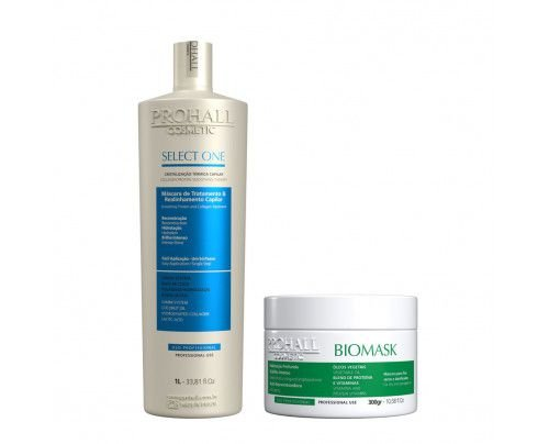 Prohall -  Escova Progressiva Select one + Máscara Biomask (2 itens)
