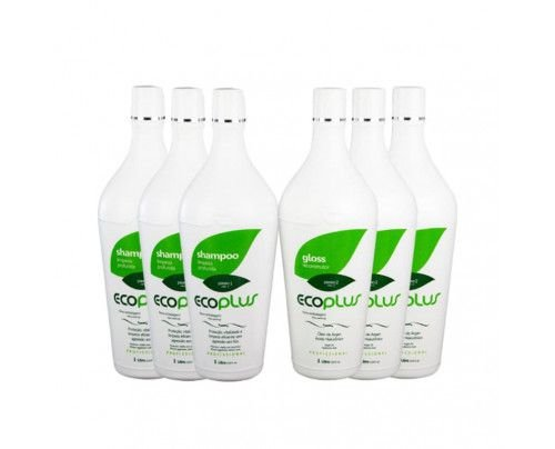Ecoplus - Escova Progressiva Definitiva  Óleo de Argan (6x1000ml)