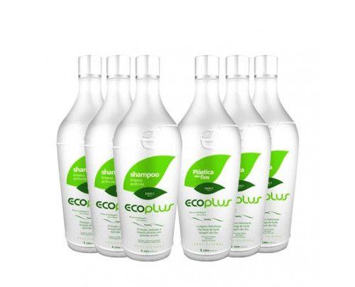 Ecoplus - Escova Progressiva Plástica dos Fios (6x1000ml)