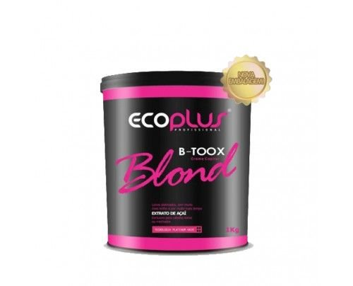 Ecoplus - Creme Capilar Btx Blond Platinum Extrato de Açaí (1000g)
