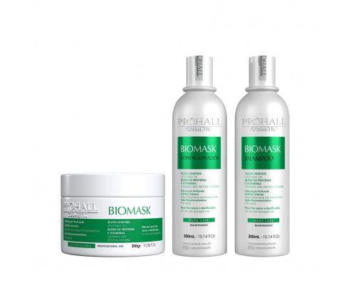 Prohall - Kit Ultra Hidratante Biomask Brilho Intenso