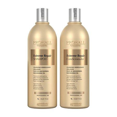 Prohall - Kit Shampoo e Condicionador Extreme Repair Ultra Nutritivo (1L)