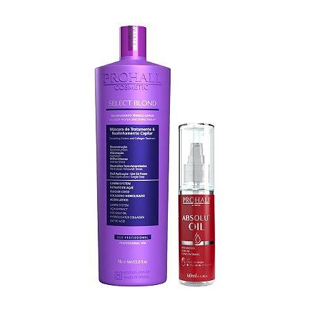 Prohall - Progressiva Select Blond Sem Formol 1L Absolut Oil Reparador de Pontas 60ml