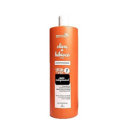Paiolla - Shampoo Preparador Oliva com Hibisco  (1L)