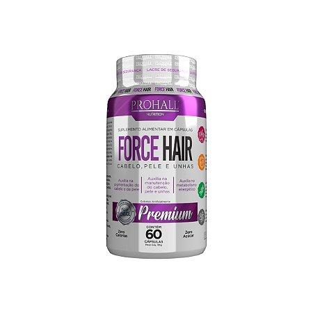Prohall Nutrition - Force Hair Crescimento Acelerado Cabelo e Unha 60 Cápsulas