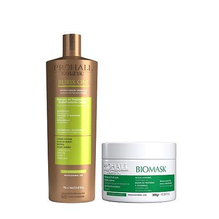 Prohall - Progressiva Vegana Burix One (1000ml) + Máscara Hidratação Biomask (300g)