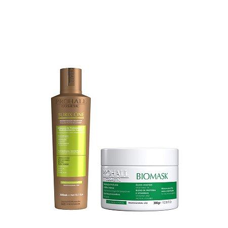 Prohall - Progressiva Vegana Burix One (300ml) + Máscara de Hidratação Biomask (300g)