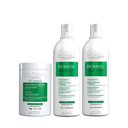 Prohall - Kit Biomask Ultra Hidratante Brilho Intenso