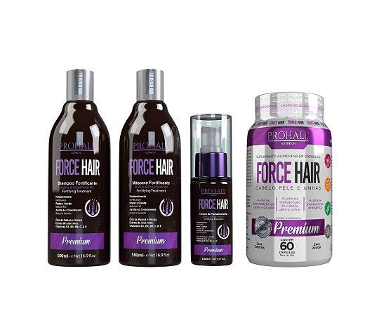 Prohall - Kit Crescimento Acelerado + Encapsulado Force Hair