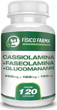 FASEOLAMINA 200mg + CASSIOLAMINA 150mg + GLUCOMANANN 100mg 120 Cápsulas