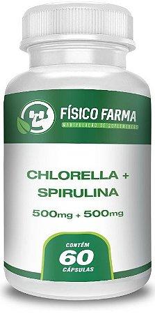 Chlorella 500mg + Spirulina 500mg 60 Doses