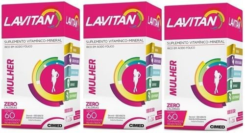 Lavitan A-Z Mulhar KIT 3 Caixas ( Total 180 Drágeas)