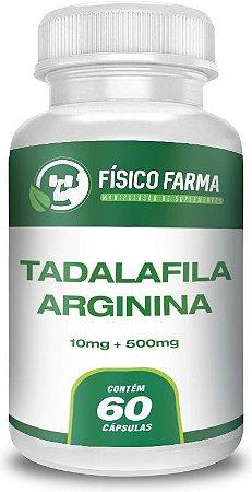 TADALAFILA 10mg + ARGININA 500mg 60 Cápsulas