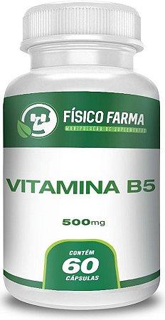 VITAMINA B5 (PANTOTENATO DE CÁLCIO) 500mg 60 Cápsulas