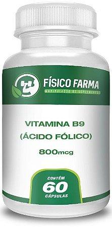 Vitamina B9 (Ácido Fólico) 800Mcg 60 Cápsulas
