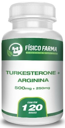 Turkesterone 500mg + L-Arginina 250mg 120 Doses