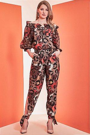 Calça Pijama Animal Print