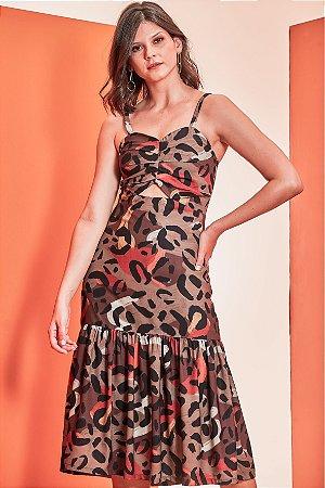 Vestido Abstrato Crepe