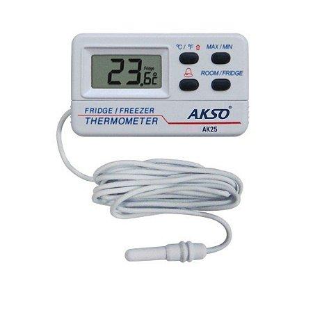 Termômetro para Freezer, Geladeira, caixa térmica ou ambiente modelo AK25