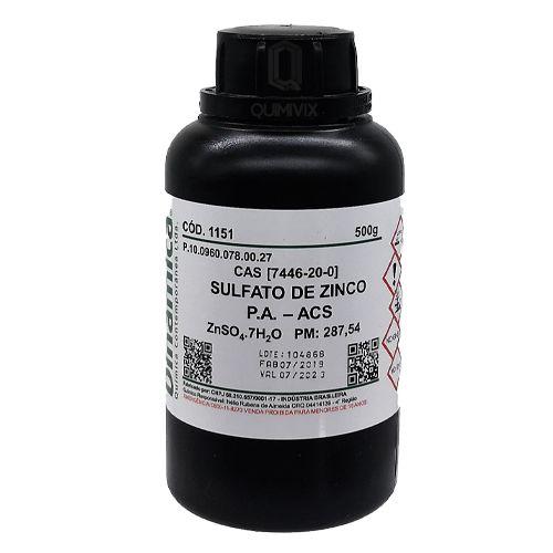 Sulfato Zinco (7H2O) PA ACS 500G Dinamica
