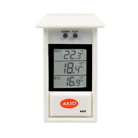 Termômetro Digital casinha Máxima e Mínima AK23 Akso