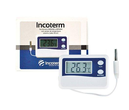Termômetro digital P/ refrigeração e Multi uso de Max/min - 50°c A + 70°C 7424.02.1 Incoterm