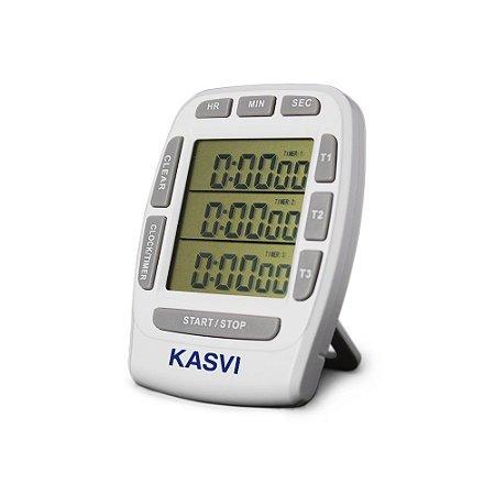Timer Digital Com 3 Canais Independentes Kasvi