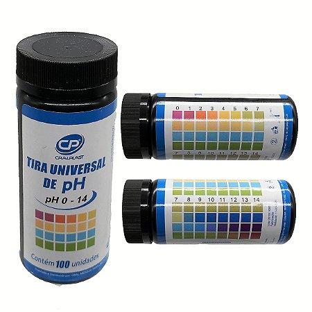 Papel Indicador Ph Tira Fita De Ph De 0 A 14 Cx C/ 100 Cral